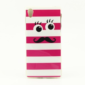 Glossy IMD TPU Gel Case for Sony Xperia Z2 D6503 D6502 D6543 - Mustache with Eyes