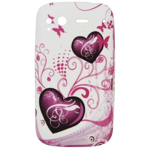 Popular Love Pattern TPU Back Case for HTC Desire S/S510E
