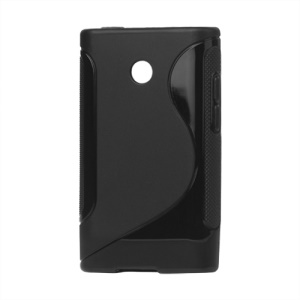 S Shape TPU Skin Case Cover for LG Optimus L3 E400