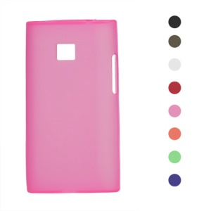 Frosted TPU Gel Case for LG Optimus L3 E400