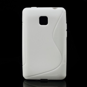 S Shape TPU Gel Cover Case for LG Optimus L3 II E430 E425