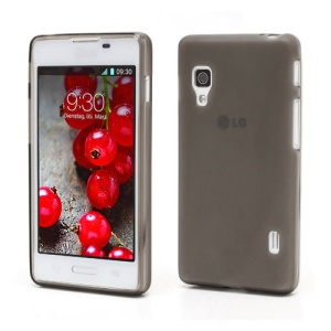 Double-side Matte Jelly TPU Case Cover for LG Optimus L5 II E460 - Grey