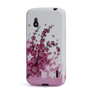 Plum Blossom Jelly TPU Case Cover for LG Nexus 4 E960 Google Mako