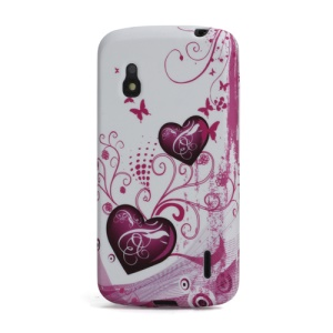 Sweet Hearts Gel TPU Case Cover for Google LG Nexus 4 E960 Mako
