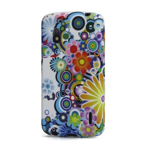 Colorful Flower TPU Gel Skin Case for LG Google Nexus 4 E960 Mako