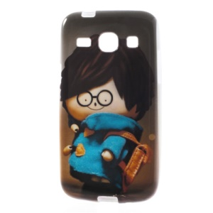 Boy Carrying Bag Soft TPU Case for Samsung Galaxy Core Plus G3500 G3502