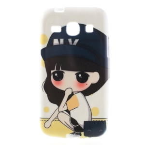 Squatting Girl Xiaoxi TPU Cover Case for Samsung Galaxy Core Plus G3500 G3502