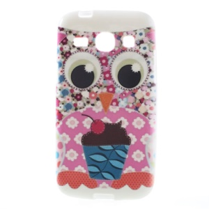 Flowered Owl & Ice Cream TPU Jelly Case for Samsung Galaxy Core Plus G3500 G3502
