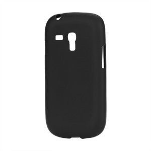 Frosted Matte TPU Gel Case for Samsung Galaxy S III / 3 Mini I8190 - Black