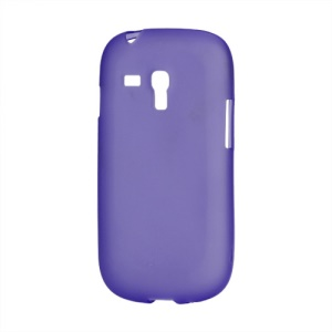 Frosted Matte TPU Gel Case for Samsung Galaxy S III / 3 Mini I8190 - Purple