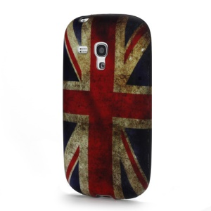 Vintage Union Jack Flag TPU Back Case for Samsung Galaxy S III / 3 Mini I8190