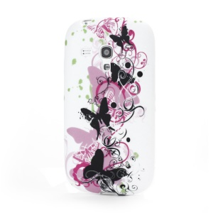 Elegant Butterflies Matte TPU Gel Case Cover for Samsung Galaxy S III / 3 Mini I8190