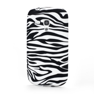 Horizontal Zebra Stripe Pattern Samsung Galaxy S III / 3 Mini I8190 Soft TPU Case