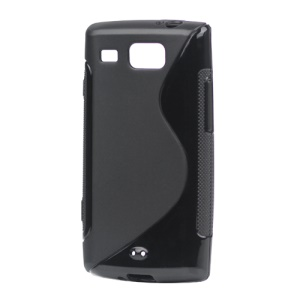 S Shape TPU Gel Case for Samsung Omnia W I8350