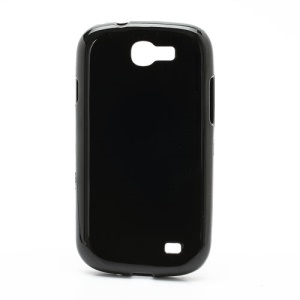 High Glossy TPU Jelly Gel Case Cover for Samsung Galaxy Express I8730 - Black