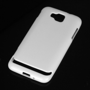 Glossy Jelly TPU Gel Back Case for Samsung Ativ S I8750 - White