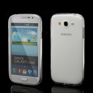 Frosted TPU Jelly Translucent Cover Case for Samsung Galaxy Grand I9080 / I9082 - Transparent