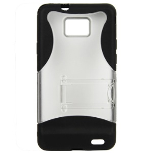 Durable Plastic & TPU Case with Bulit-in Holder for Samsung I9100 Galaxy S II