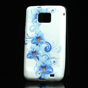 Fresh Flower Pattern TPU Case for Samsung I9100 Galaxy S II