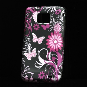High-quality TPU Case with Fancy Flora Pattern for Samsung I9100 Galaxy S II