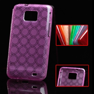 Concentric Circle Pattern TPU Skin Case for Samsung I9100 Galaxy S 2