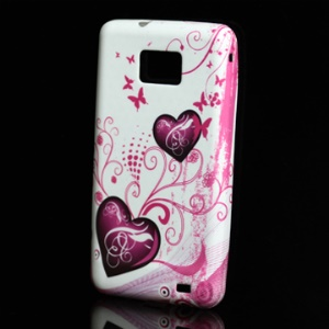 Sweet Hearts TPU Case Cover for Samsung I9100 Galaxy S 2