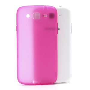 For Samsung Galaxy Mega 5.8 I9150 Matte TPU Case w/ Anti-dust Plug - Translucent Rose
