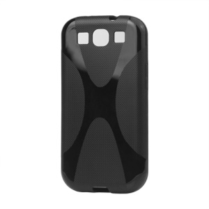 Premium X Shape TPU Gel Case for Samsung Galaxy S 3 / III I9300 I747 L710 T999 I535 R530 - Black