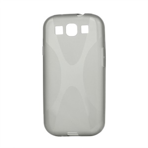 Premium X Shape TPU Gel Case for Samsung Galaxy S 3 / III I9300 I747 L710 T999 I535 R530 - Grey