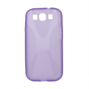 Premium X Shape TPU Gel Case for Samsung Galaxy S 3 / III I9300 I747 L710 T999 I535 R530 - Purple