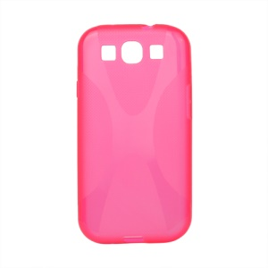 Premium X Shape TPU Gel Case for Samsung Galaxy S 3 / III I9300 I747 L710 T999 I535 R530 - Rose