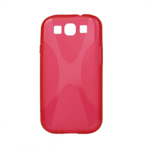 Premium X Shape TPU Gel Case for Samsung Galaxy S 3 / III I9300 I747 L710 T999 I535 R530 - Red