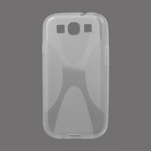 Premium X Shape TPU Gel Case for Samsung Galaxy S 3 / III I9300 I747 L710 T999 I535 R530 - Transparent