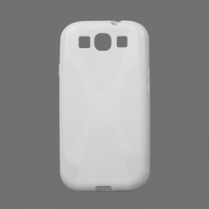 Premium X Shape TPU Gel Case for Samsung Galaxy S 3 / III I9300 I747 L710 T999 I535 R530 - White