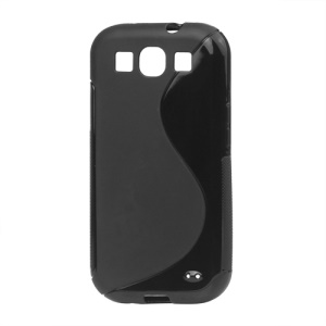 S-Curve TPU Gel Case Cover for Samsung Galaxy S 3 / III I9300 I747 L710 T999 I535 R530 - Black