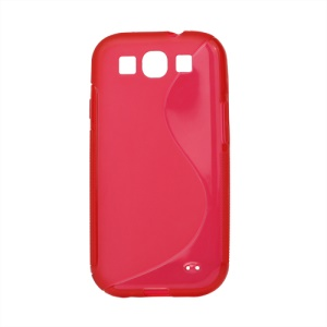 S-Curve TPU Gel Case Cover for Samsung Galaxy S 3 / III I9300 I747 L710 T999 I535 R530 - Red