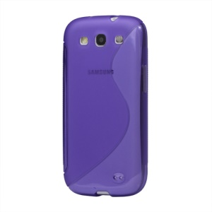 S-Curve TPU Gel Case Cover for Samsung Galaxy S 3 / III I9300 I747 L710 T999 I535 R530 - Purple