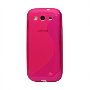 S-Curve TPU Gel Case Cover for Samsung Galaxy S 3 / III I9300 I747 L710 T999 I535 R530 - Rose
