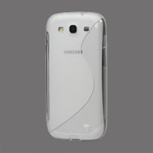 S-Curve TPU Gel Case Cover for Samsung Galaxy S 3 / III I9300 I747 L710 T999 I535 R530 - Transparent