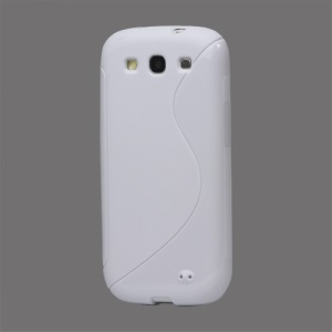 S-Curve TPU Gel Case Cover for Samsung Galaxy S 3 / III I9300 I747 L710 T999 I535 R530 - White