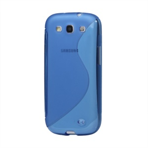 S-Curve TPU Gel Case Cover for Samsung Galaxy S 3 / III I9300 I747 L710 T999 I535 R530 - Blue