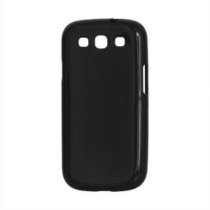 Glossy TPU Case Cover for Samsung Galaxy S 3 / III I9300 I747 L710 T999 I535 R530 - Black