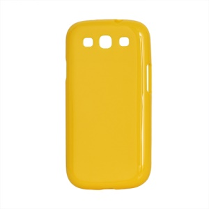 Glossy TPU Case Cover for Samsung Galaxy S 3 / III I9300 I747 L710 T999 I535 R530 - Yellow