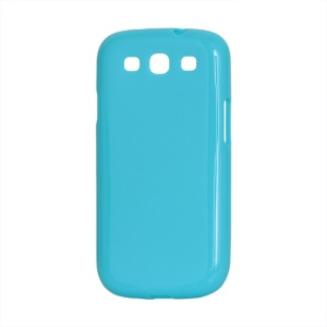Glossy TPU Case Cover for Samsung Galaxy S 3 / III I9300 I747 L710 T999 I535 R530 - Blue