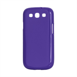 Glossy TPU Case Cover for Samsung Galaxy S 3 / III I9300 I747 L710 T999 I535 R530 - Purple