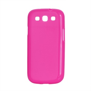 Glossy TPU Case Cover for Samsung Galaxy S 3 / III I9300 I747 L710 T999 I535 R530 - Rose