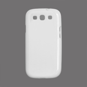 Glossy TPU Case Cover for Samsung Galaxy S 3 / III I9300 I747 L710 T999 I535 R530 - White