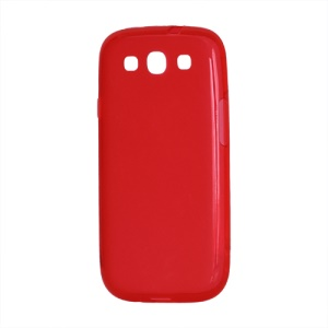 Frosted TPU Gel Case Cover for Samsung Galaxy S 3 / III I9300 I747 L710 T999 I535 R530 - Red