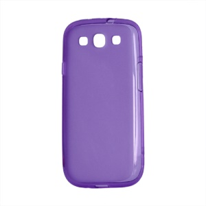 Frosted TPU Gel Case Cover for Samsung Galaxy S 3 / III I9300 I747 L710 T999 I535 R530 - Purple