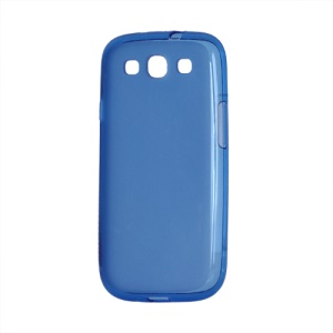 Frosted TPU Gel Case Cover for Samsung Galaxy S 3 / III I9300 I747 L710 T999 I535 R530 - Blue